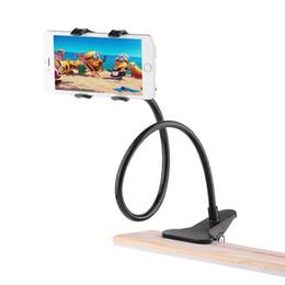 Universal Cell Phone Holder longo braço flexível preguiçoso Phone Holder braçadeira Bed Tablet Car Mount Suporte para iPhone XS X Samsung de