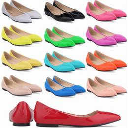 2019 venta de zapatos de bailarina Hot Sale-ies Womens Flat Ladies Glitter Ballet Ballerina Nupcial Zapatos EE.UU. Tamaño 4-11 D0073 rebajas venta de zapatos de bailarina