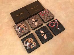 2020 carteras de hombres con estilo A1 2020 nueva cartera VERTICAL la forma más elegante de transportar tarjetas y monedas famosos hombres de cuero tarjeta monedero soporte para abejas serpiente SIN CAJA J66R rebajas carteras de hombres con estilo