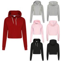 Women Casual Crop Tops Pullover Hooded Sweatshirt Jumper Hoodie Sportswear UK