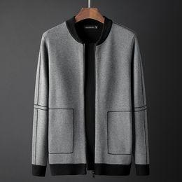 Männer-pullover jacquard online-Designer Herren Mantel Strickjacke Brandneu Kommen Strickjacke Luxus Jacke Casual Jacquard Herren Kragen Reißverschluss Pullover