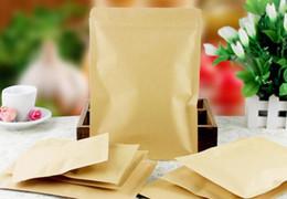 200pcs / lot del papel de Kraft Doypack Zip Lock bolsa con papel de aluminio de la Alimentación del bocado del té del café de almacenamiento resellable Ziplock / cremallera bolsa desde fabricantes