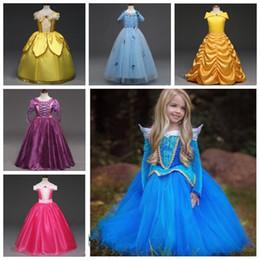 Bebek Giysileri Kız Külkedisi Elbise Yaz Dans Elbise Kar Beyaz Prenses Elbiseler Rapunzel Aurora Çocuklar Parti Kostüm Elbise LT416 nereden
