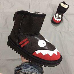 леопардовые сапоги Скидка ugg boots Смешайте 12 цветов новорожденных девочек мальчиков леопарда высокие сапоги плюс толстые ботинки снега ковылять младенцев дети