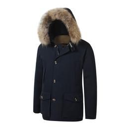 2019 arktische mäntel 2019 brandneue Woolrich abnehmbare Waschbärenfell Herren Arctic Down Parka warme Jacke dicken Outdoor-Wintermantel