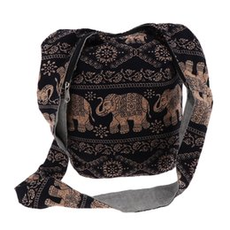 Hobo on-line-Hippie Crossbody Bag Thai Top Zip Hobo Sling Bag Handmade Hipster Messenger Bag