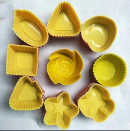 Stern backformen online-7cm Silikon Runde Rose Stern-Kuchen-Muffin-Schokoladen-Kuchen-Formen Bakeware Maker-Form-Behälter Backen Cup Liner Moulds Liner Baking Cup Moulds