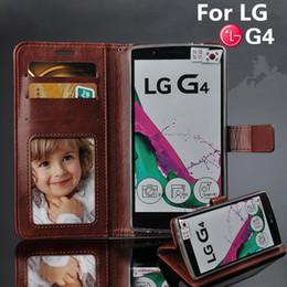 2019 caixa da carteira lg g LG4 para LG G4 Caso F500 H818 H810 VS999 Slot para Cartão Wallet Stent Casos de Couro de Cavalo Padrão Flip Protect Capa preta para G 4 caixa da carteira lg g barato