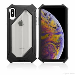 Caso matagal para iphone on-line-Para Iphone XS MAX XR X XS 8 7 6 Plus translúcido Body Scrub Geometric Figura completa Defender Protective Case Capa do telefone grátis
