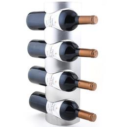 Preferências 1PC 3 ou 4 Buraco aço inoxidável Wall Mounted Wine Titular Wine Rack Household suporte para garrafa Para Homeuse com parafusos de Fornecedores de sacos de vinho branco atacado