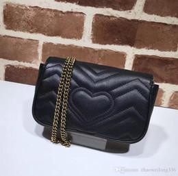 2019 berühmtheitstasche echt Top Qualität Luxus Promi Design Mini Herz Cluth Marmont Umhängetasche Frauen echtes Leder Crossbody Messenger Bag Kette 476433 günstig berühmtheitstasche echt