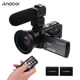 """Argentina Andoer 4K WiFi de vídeo digital videocámara de la cámara 24MP 16X infrarrojos de visión nocturna 3"""" IPS LCD de pantalla táctil 0.39X + lente micrófono para la grabación Suministro"""