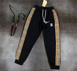 19FW lüks Marka Tasarım BBR Uzun Pantolon Terry Pantolon All-maç Moda Splice Kafes Hip-hop Yüksek Streetwear Serin Spor Pantolon nereden