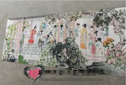 Chine Thangka en soie ancienne comme peinture suspendue Broderie Figure Painting 150x60cm ? partir de fabricateur