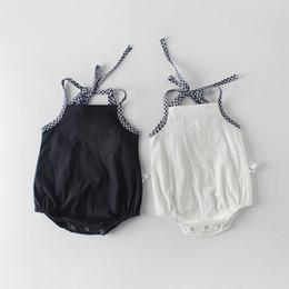 INS nouveautés bébé fille enfants barboteuse sans manches Summer Suspender Romper 100% coton fille enfant barboteuses 0-2T ? partir de fabricateur