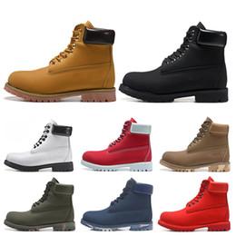 Tops pretos lisos on-line-Timberland boots Novo TBL designer de luxo botas para homens botas de inverno das mulheres de alta qualidade Militar Triplo Branco Preto Camo tamanho 36-45