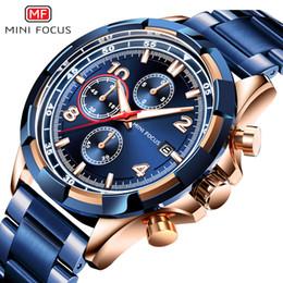 ab3c00fb9eb 2019 Nova Moda MINI FOCO Esporte Cronógrafo Homens Relógios Top Marca de  Luxo em Aço Inoxidável Strap Calendar Relógio de Quartzo Homem relógio