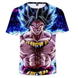 niño camiseta dragón Rebajas Dragon Ball Super Broly 3D Camiseta Dragonball Z Dbz Super Saiyan Son Goku Camiseta Japón Vegeta Anime Camiseta Hombre / Niño Tops Adolescente