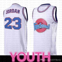 2021 camisa coelho Kids Top Filme Space Jam Tune Squad Jersey 23 Michael 1 Bugs Bunny 10 Lola 13 Tweety 22 Murray Jerseys Black White