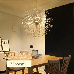 2019 24 zoll rundes glas Moderne Leuchterlampe des Feuerwerks LED stilvolle Baumastleuchterlampe dekorative Leuchtkäferdeckenleuchter, die Beleuchtung hängen