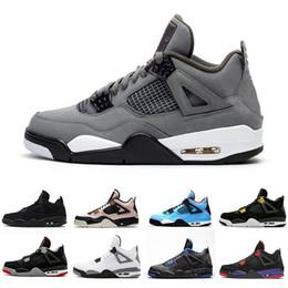 Alas de mujer zapatos deportivos online-Barato Cool Grey 4 Wings Silt Red 4s Lo que los hombres zapatos de baloncesto Mujer Negro Pizzeria Bred Lightning Hombres zapatillas deportivas