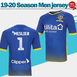 2019 форма вратаря футбол 2020 Leeds United F.C. вратарь синий футбол трикотажные изделия 19/20 мужчины вратарь с коротким рукавом футболки футбол униформа продаж скидка форма вратаря футбол