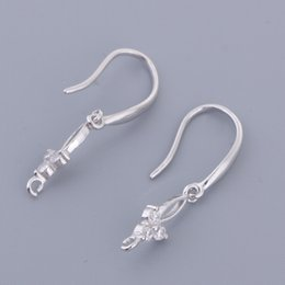 сделать рыболовный крючок Скидка 1 Pair Sterling Silver Ear Wire Earring Findings Ear Hook Fish Hook Connectors for Dangle Earring Making Accessories, 25mm