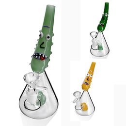"cartoon pipes bongs Promo Codes - Bong Cartoon bongs bubbler dab rig glass water pipe smoking 14.4 hookah oil rig 7.5"" tall"