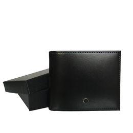 Titular de la tarjeta de visita de cuero negro online-titular de la tarjeta de crédito portátil cartera de cuero clásica fiesta de negocios monedero negro Europea diseñador de moda marca alemana de lujo de los hombres con la caja