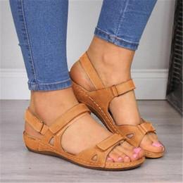 bf49c2ec2 7 Fotos Compra On-line Sandálias mulheres tamanho 43-Sandálias das mulheres  Para O Verão Causal