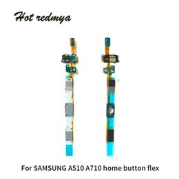 Teclado táctil dorado online-10 Unids Para Samsung Galaxy A5 A510 A7 A710 Botón de inicio Menú de Reemplazo de Partes Flexibles Botón Teclado Sensor Táctil Cable Flexible Oro Negro Blanco