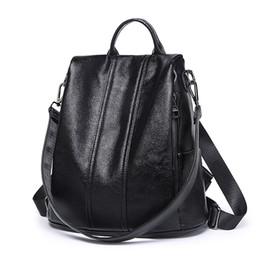 6d88bbde6412 Fashion 2018 Genuine Leather Women Shopping Backpacks Ladies Daily Cowhide Backpack  Female Girl s School Shoulder Rucksack C645