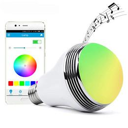 Canada Ampoule à DEL sans fil avec haut-parleur Bluetooth intelligent et changement de couleur RVB à gradation variable Offre