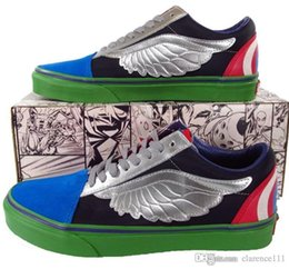 Marvel Avengers Unit Custom Vans Old Skool