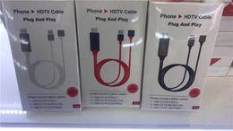C plugs on-line-Universal HDMI PLUG cabo AND PLAY HDMI HDTV TV Adaptador Digital AV Cable 1080P Telefone para TV USB 2.0 Para Tipo C Micro 5pin Iluminação 1M