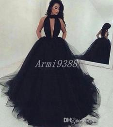 Partido vestidos de fiesta negro del V cuello Tul Vestidos de baile largo del partido Forml vestido de bola del vestido de noche Vestido de noche del tamaño extra grande robe de soirée desde fabricantes