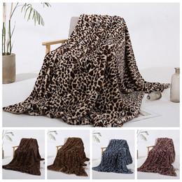 Decoración del hogar de invierno online-Invierno manta caliente piel de imitación de paño grueso y suave manta del tiro de leopardo de impresión Polyestser Minky Fleece Sofá Sofá Decoración LJJA3519-13 Manta