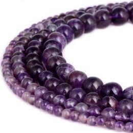 Agata naturale rotonda online-Perle di pietra naturali di ametista perle di lava rotonde pietre diaspro perline sfaccettate gioielli di perle 1 filo 15 pollici 10mm