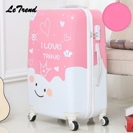 a70441039d68 Letrend Cute Cartoon Student Rolling Luggage Spinner Children Trolley  Suitcase Wheels Kids Carry On Travel Bag Hardside Trunk