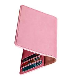 Billetera pasaporte rosa online-Viajero, hombres, mujeres, tarjetas de pasaporte, titular de PU, tarjeta de crédito, organizador, almacenamiento, cartera corta, azul rosa