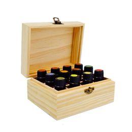 Canada Bois 12 compartiments boîte de stockage d'huile essentielle Portable 15ml bouteille cas présentoir de parfum de voyage Offre