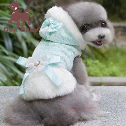 Grandi giacche per cani invernali online-2019 Fashion Puppy Dog Winter Warm Cotton Clothes Pet Cat Jacket Coat Hoodies Maglione Pet Big Size Clothing cappotto in cotone
