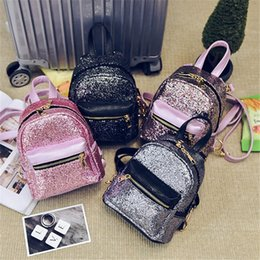 578582f4b4af 2019 Luxury Designer Womens Backpack New Shoulder Bag Mini Sequins  Fashionable Girls Multi Purpose Bags Handbags Free Shipping Hot Cute Bags