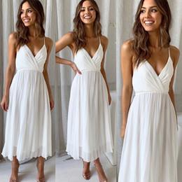 4a687f65a38 белый шифон оптом Скидка Женская одежда оптом шифоновое платье сексуальное  спинки ремешок с V-образным