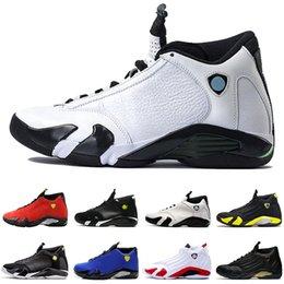 2019 баскетбольные кроссовки размер 14 Высокое качество 14 14s Черный Toe обувь Fusion Varsity Red замша Thunder Мужчины баскетбол Последний выстрел размер DMP конфета кроссовки 8-13 дешево баскетбольные кроссовки размер 14