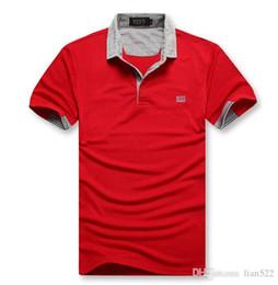 camisa de negocios bordado Rebajas BOS S hugo men polo Business Leisure camisa para hombre Logo de bordado salvaje 7 color M-XXL marca de moda para hombre verano transpirable polos classic5