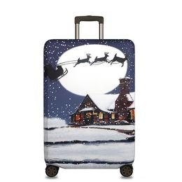 Funda de equipaje elástica online-Protector de la cubierta de la maleta Elástico espesar Bolsa de polvo de viaje Equipaje Fundas de equipaje Accesorios Funda protectora para la maleta