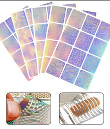 Ongle réutilisable en Ligne-Nail Creux Irrégulier Grille Autocollants Pour Ongles Manucure Autocollants Réutilisables Guide Set Kit Nail Art Outil RRA613