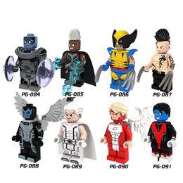 PG8019 Супер Герои X-Man Angel Апокалипсис Росомаха Дэйкен Archangle Магнито Найткролер Игрушка для детей подарка cheap super angels от Поставщики супер ангелы