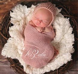 Hilo elástico online-Toalla fotográfica para bebés recién nacidos 40 * 150 cm Envoltura de hilo elástico Nueva bufanda euroamericana para estudio de proyectos de fotografía para niños